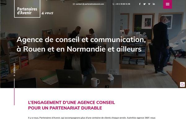 Refonte site vitrine agence communication wordpress